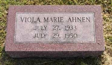 AHNEN, VIOLA MARIE - Adair County, Iowa   VIOLA MARIE AHNEN