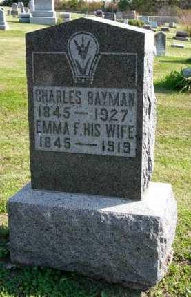 BAYMAN, EMMA F. - Adair County, Iowa | EMMA F. BAYMAN