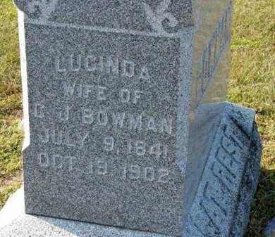 BOWMAN, LUCINDA - Adair County, Iowa | LUCINDA BOWMAN