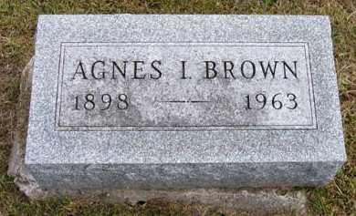 BROWN, AGNES I. - Adair County, Iowa   AGNES I. BROWN