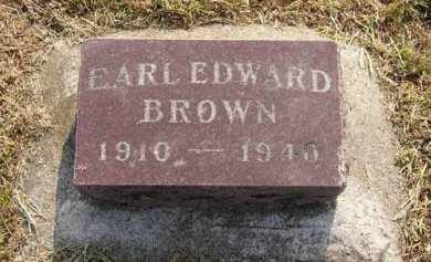 BROWN, EARL EDWARD - Adair County, Iowa | EARL EDWARD BROWN