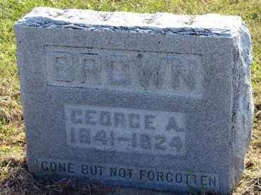 BROWN, GEORGE A. - Adair County, Iowa | GEORGE A. BROWN