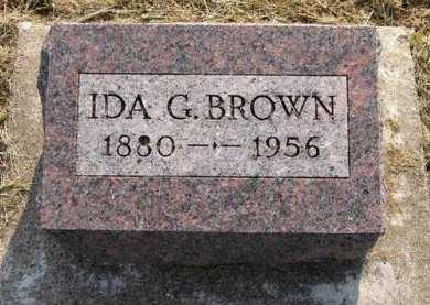 BROWN, IDA G. - Adair County, Iowa   IDA G. BROWN