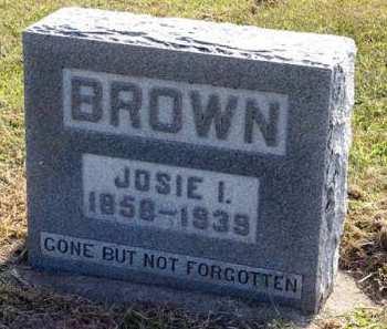 BROWN, JOSIE I. - Adair County, Iowa | JOSIE I. BROWN