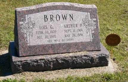 BROWN, ARTHUR HARRY - Adair County, Iowa | ARTHUR HARRY BROWN
