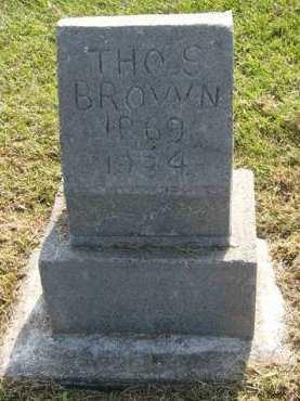 BROWN, THOMAS S. - Adair County, Iowa   THOMAS S. BROWN