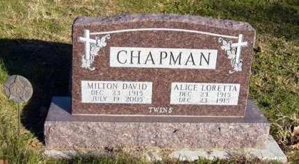 CHAPMAN, MILTON DAVID - Adair County, Iowa   MILTON DAVID CHAPMAN