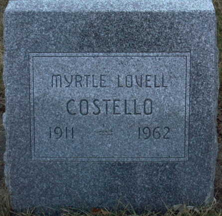 COSTELLO, MYRTLE  LOVELL - Adair County, Iowa | MYRTLE  LOVELL COSTELLO