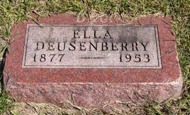 DEUSENBERRY, ELLA - Adair County, Iowa   ELLA DEUSENBERRY