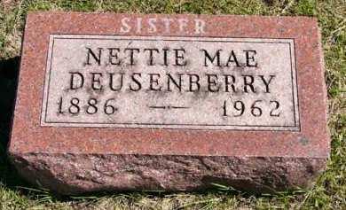 DEUSENBERRY, NETTIE MAE - Adair County, Iowa | NETTIE MAE DEUSENBERRY