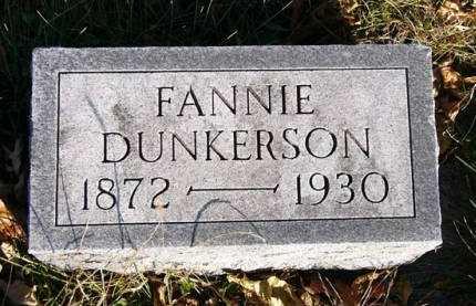 DUNKERSON, FANNIE - Adair County, Iowa   FANNIE DUNKERSON