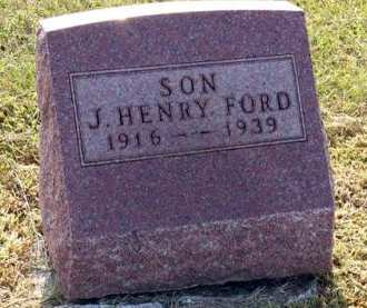 FORD, J. HENRY - Adair County, Iowa | J. HENRY FORD