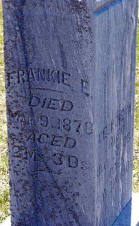 FOSTER, FRANKIE E. - Adair County, Iowa   FRANKIE E. FOSTER