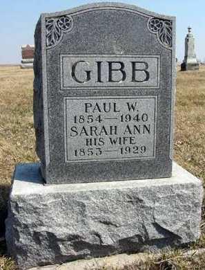 GIBB, PAUL W. - Adair County, Iowa | PAUL W. GIBB