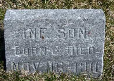 HOSKINS, INFANT SON - Adair County, Iowa   INFANT SON HOSKINS