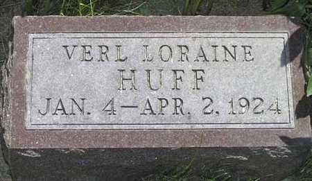 HUFF, VERYL LORAINE - Adair County, Iowa | VERYL LORAINE HUFF