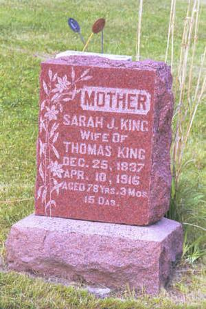 KING, SARAH J. - Adair County, Iowa | SARAH J. KING