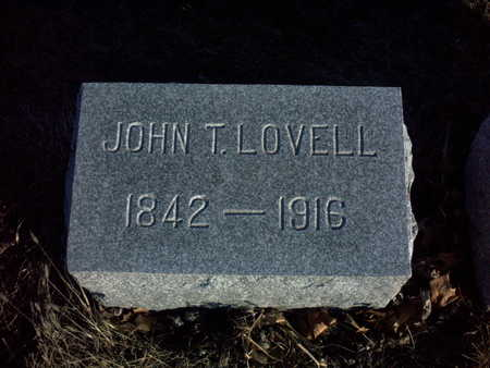 LOVELL, JOHN  T. - Adair County, Iowa | JOHN  T. LOVELL