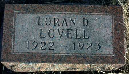 LOVELL, LORAN D. - Adair County, Iowa | LORAN D. LOVELL