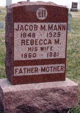 MANN, REBECCA M. - Adair County, Iowa | REBECCA M. MANN