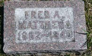 MATTHEWS, FRED A. - Adair County, Iowa | FRED A. MATTHEWS