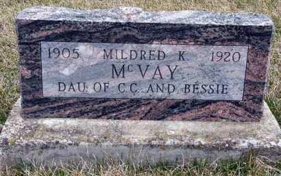 MCVAY, MILDRED K. - Adair County, Iowa | MILDRED K. MCVAY