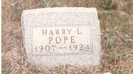 POPE, HARRY  LLOYD - Adair County, Iowa | HARRY  LLOYD POPE