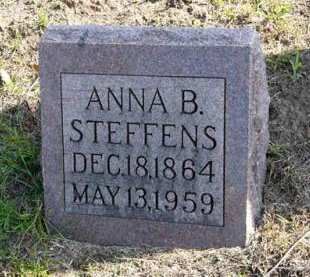STEFFENS, ANNA B. - Adair County, Iowa | ANNA B. STEFFENS
