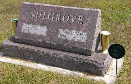 SULGROVE, MERLYN W. - Adair County, Iowa | MERLYN W. SULGROVE