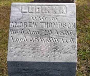 THOMPSON, LUCINNA - Adair County, Iowa   LUCINNA THOMPSON