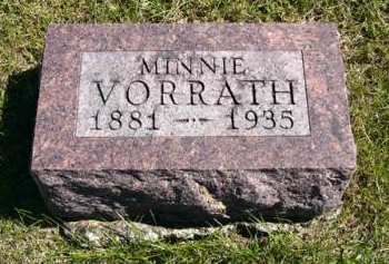 VORRATH, MINNIE - Adair County, Iowa | MINNIE VORRATH