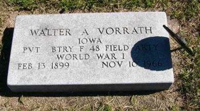 VORRATH, WALTER A. - Adair County, Iowa   WALTER A. VORRATH