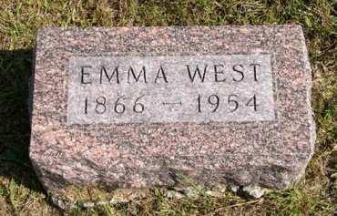 WEST, EMMA - Adair County, Iowa   EMMA WEST