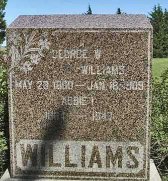 WILLIAMS, ABBIE I. - Adair County, Iowa | ABBIE I. WILLIAMS