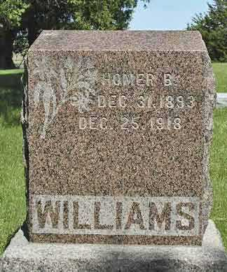 WILLIAMS, HOMER - Adair County, Iowa | HOMER WILLIAMS