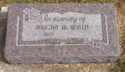 WYLLIE, MARTHA M. - Adair County, Iowa   MARTHA M. WYLLIE