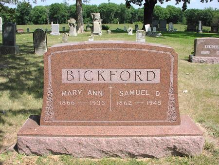 BICKFORD, MARY ANN - Adams County, Iowa | MARY ANN BICKFORD
