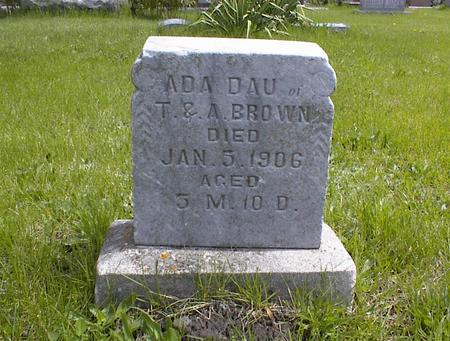 BROWN, ADA - Adams County, Iowa | ADA BROWN