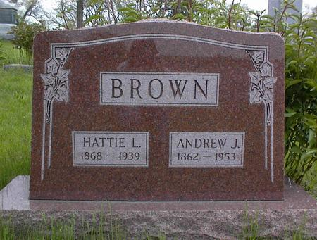 BROWN, HATTIE L. - Adams County, Iowa | HATTIE L. BROWN