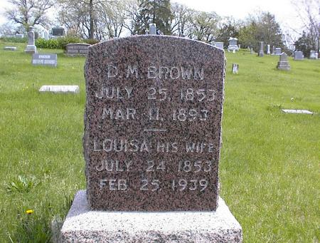 BROWN, D.M. - Adams County, Iowa | D.M. BROWN
