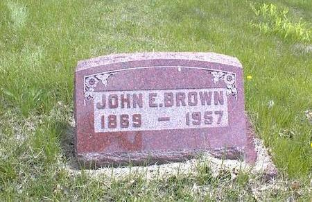 BROWN, JOHN E. - Adams County, Iowa | JOHN E. BROWN