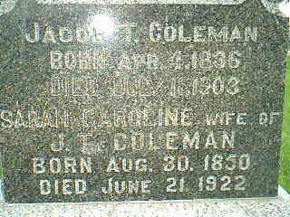 COLEMAN, JACOB T. - Adams County, Iowa | JACOB T. COLEMAN