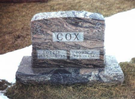 COX, LOTTIE - Adams County, Iowa | LOTTIE COX