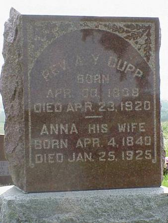 CUPP, ANNA - Adams County, Iowa | ANNA CUPP