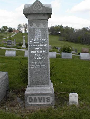 CLARKE DAVIS, JULIA - Adams County, Iowa | JULIA CLARKE DAVIS