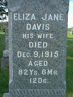 EVANS, ELIZA JANE - Adams County, Iowa | ELIZA JANE EVANS