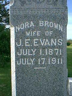BROWN EVANS, NORA - Adams County, Iowa | NORA BROWN EVANS