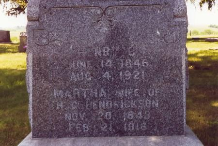HENDRICKSON, HENRY G. AND MARTHA (HILL) - Adams County, Iowa | HENRY G. AND MARTHA (HILL) HENDRICKSON