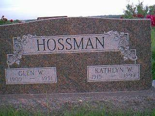 HOSSMAN, GLEN W. - Adams County, Iowa | GLEN W. HOSSMAN