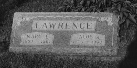 LAWRENCE, MARY L - Adams County, Iowa | MARY L LAWRENCE